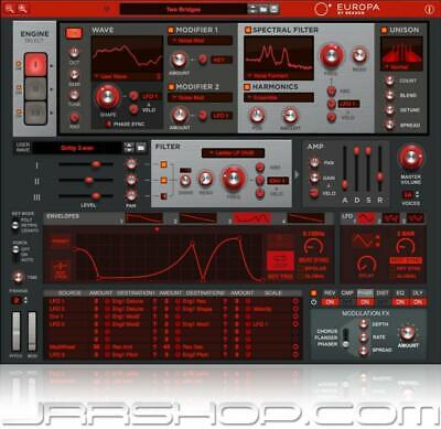 Propellerhead Europa Spectral Wavetable Synth Plugin by Reason  eDelivery JRR Sh