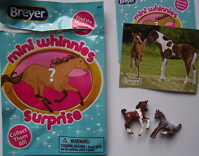 Breyer Horse Toy #97260 Mini Whinnies Surprise Bag~PANSY & POPPY Foals + Sticker