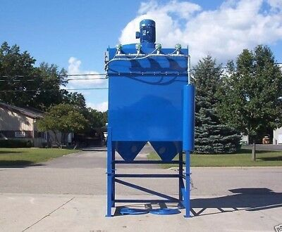 Dust Collector, 20 Hp, 24 Cartridge, Reverse Pulse, Variable Speed,