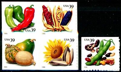 Crops of the Americas Complete Set 5 MNH Booklet Stamps Scott's 4008 to 4012