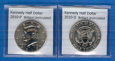 Kennedy Half Dollars: 2010-P and 2010-D from Mint Rolls