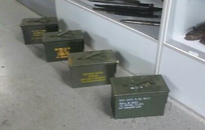 USGI Ammo Can 50 CAL M2A1 Ammo Can LOT OF 4 Airtight Steel 12x6.5x7.5 FREE SHIP