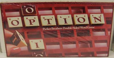 Option By Parker Brothers 1983~Vintage Double Sided Word Game~New! Unopened