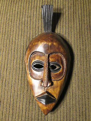 Wooden wall mask from Ghana / Africa (#70)