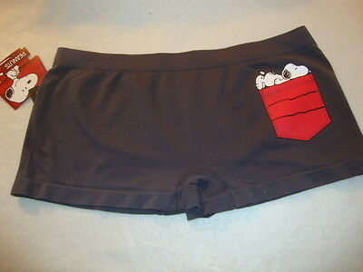 "Peanuts Snoopy ""on Bum!! ""  Ladies Boy Shorts ""undies"" Nwts Size Large"