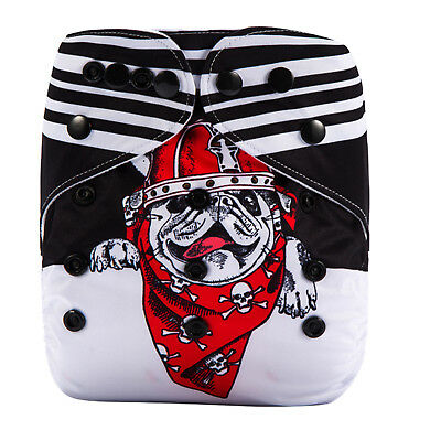 Modern Cloth Reusable Washable Baby Nappy Diaper & Insert, Awesome Puppy