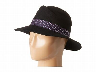 Vince Camuto NEW Black One US Size Tied Panama Women's Traditional Hat $48 #595