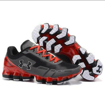 Top Men's Under Armour Mens UA Scorpio Running Shoes Gray/Red  Leisure shoes