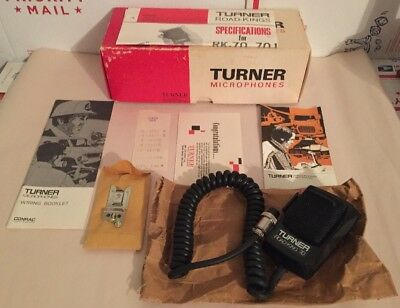 TURNER ROAD KING 70 CB Handheld Ham Radio Microphone W/ Papers And Original  Box
