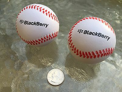 PLAY BALL!! BlackBerry (RIM) Logo Baseball Stress Ball Combo (2 PACK) Promo SWAG