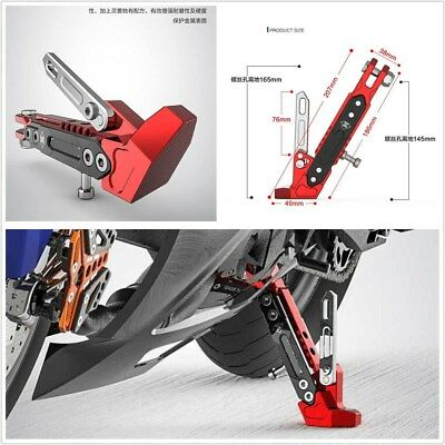 Durable Motorcycle Alloy Adjustable Side Tripod Holder Cool Styling Fall Protect