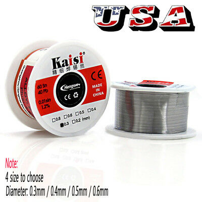 50G 0.5mm  60/40 Rosin Core Flux 1.2% Tin Lead Roll Soldering Solder Wire US