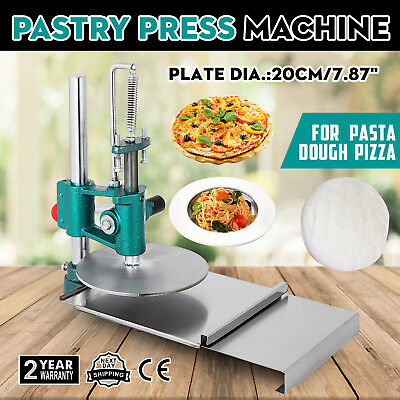 7.8inch Manual Pastry Press Machine Commercial Roller Sheeter Pizza Crust