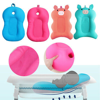 Baby Newborn Foldable Bath Tub Pad Infant Safety Shower Antiskid Cushion Net Mat