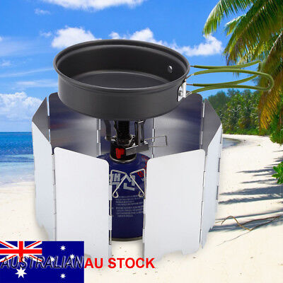 Outdoor Cooking Camping Cooker Picnic Gas Stove Foldable Wind Screen Windshield