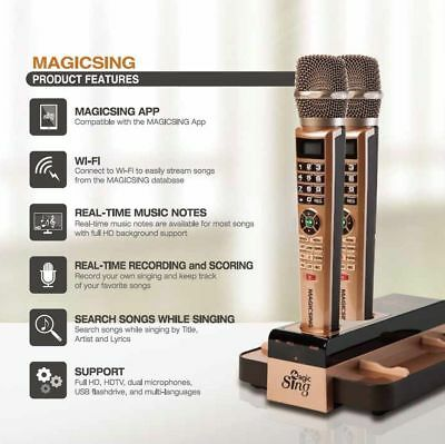 Magic Sing E5 WiFi 2 Wireless Mic Karaoke 12K POP 1Year 220K International songs