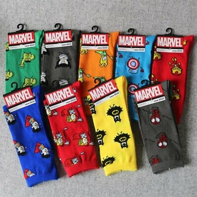 Fashion Avenger Cartoon cotton Super hero MEN Womens Sock Casual Long male Socks