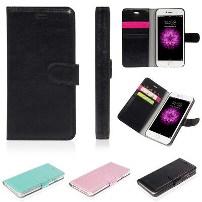 For Apple iPhone 7 Plus 8 Leather Flip Wallet Case Protective Stand Pouch Cover