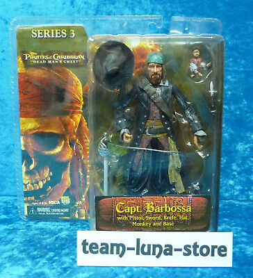 Neca Figur Captain Barbossa Fluch der Karibik Pirates of the Caribbean S. 3 neu