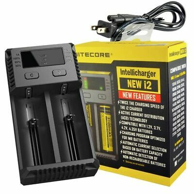 NITECORE i2 Intellicharger Charger For 18650 AA AAA Battery+Car Charger Adapter
