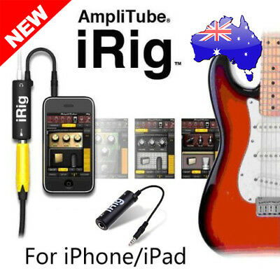 New AmpliTube iRig Interface Guitar Adapter for iPad iPhone iPod Touch AU Stock