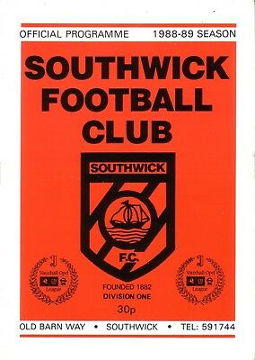 SOUTHWICK v LITTLEHAMPTON TOWN 1988/89 FA CUP 1ST QUALIFYING ROUND