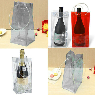Clear Transparent PVC Carrier Wine Ice Bucket Chiller Beer Cooler Bag