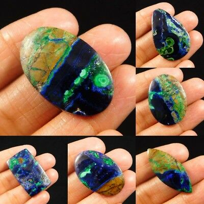 100% Natural Azurite Malachite Loose Cabochon Gemstone NRM4364-4372