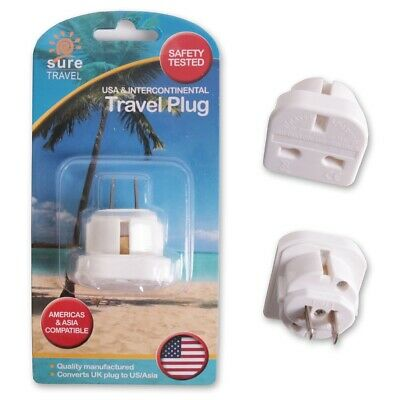 UK - JAPAN/THAILAND/MEXICO/USA TRAVEL POWER ADAPTER Main Converter 3-2 Pin Plug