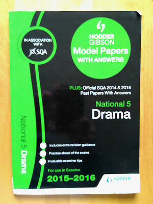 National 5 Drama 2015/16 SQA Past and Hodder Gibson Papers by SQA (Paperback, 20