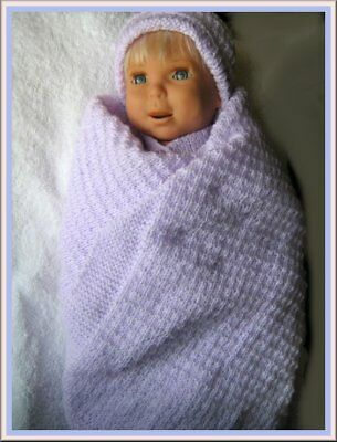 REDUCED... Hand Knit Christening set, Baby layette,Knitted Pram set,,NBorn 4 PLY