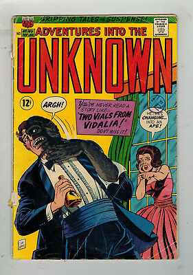 ADVENTURES INTO THE UNKNOWN COMIC No. 169 from 1966