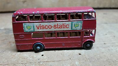 Cisco-Static Bp~~Advertising 'double Decker' Bus~Lesney Routemaster Matchbox #5