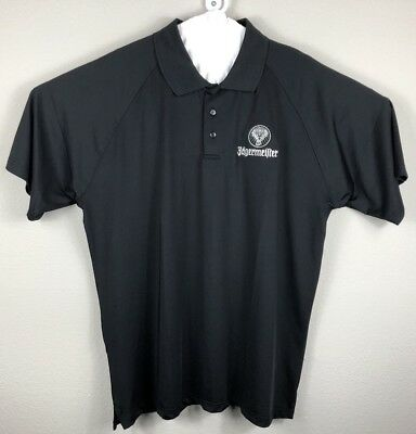JAGERMEISTER MENS golf dri fit POLO SHIRT SIZE 2xl black Embroidered F