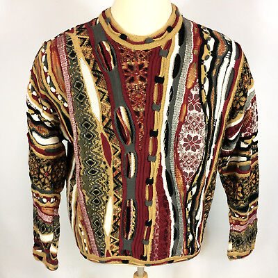 350ba003c2e Vintage 3D Abstract 80s 90s Grunge Surf Skate Hip Hop Street Sweater Ugly  Snow L