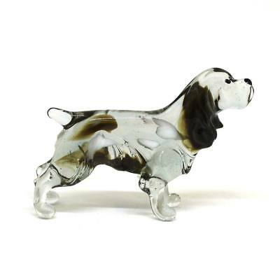 Middle blown glass figurine Dog - English Springer Spaniel. Handmade #126