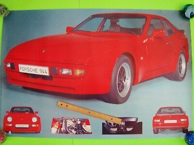 """scarce 1982 PORSCHE 944 HUGE 36"""" x 24"""" ADVERTISING POSTER Holland IN-YOUR-FACE"""