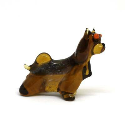 Middle blown glass figurine Dog - Yorkshire Terrier Russian Murano #183