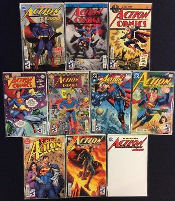 SUPERMAN ACTION COMICS #1000 ALL 10 VARIANTS Bendis JOHNS Lee DINI Never Read