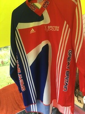 TEAM GB GREAT BRITAIN BRITISH CYCLING ADIDAS L/S ITALIAN  JERSEY Size Large