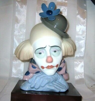 """Lladro - """"Pensive Clown with Bowler Hat"""" #5130 Figurine"""