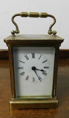 brass cased carriage clock for restore
