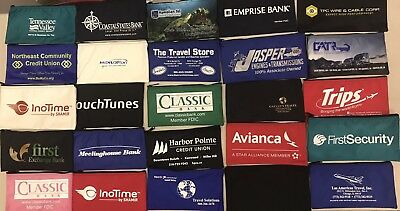 "LOT OF 6 Zippered Nylon Money Logo Bank Bags Pouches 10.5"" x 6"" Mixed Lot"