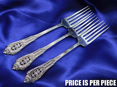 Wallace Rose Point Sterling Silver Dinner Fork - Good Condition S