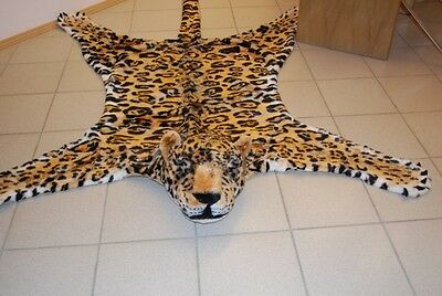 "Fake Faux Fur Jaguar Panther skin PLUSH RUG SIZE 84,6""x69,7"" inch new 215x177cm"