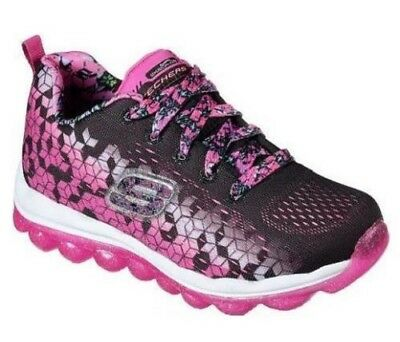 ad5499ee9f39 Girl s Youth SKECHERS SKECH-AIR ULTRA 80135 Black+Pink Athletic Sneakers  Shoes