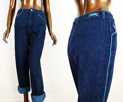 """Vintage 80s PENTIMENTO Pin Striped High Waisted Mom Jeans 28"""" W"""