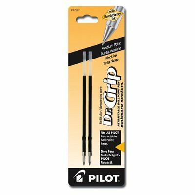 Dr. Grip Retractable Ball Point Pen Ink Refills, Medium Point, Black Ink, 2 Pack