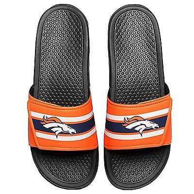 a981fcacf NFL Football Mens Team Logo Legacy Stripe Sport Shower Slide Flip Flop  Sandals