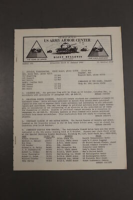 US Army Armor Center Daily Bulletin Official Notices, No 200, October 11, 1968